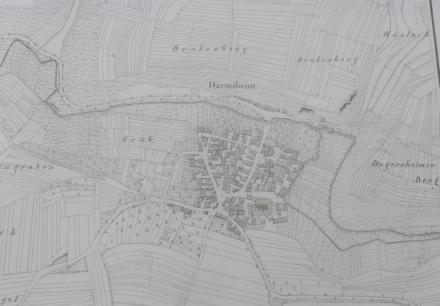 Darmsheim 1830 Gemarkungen Kachel Historie